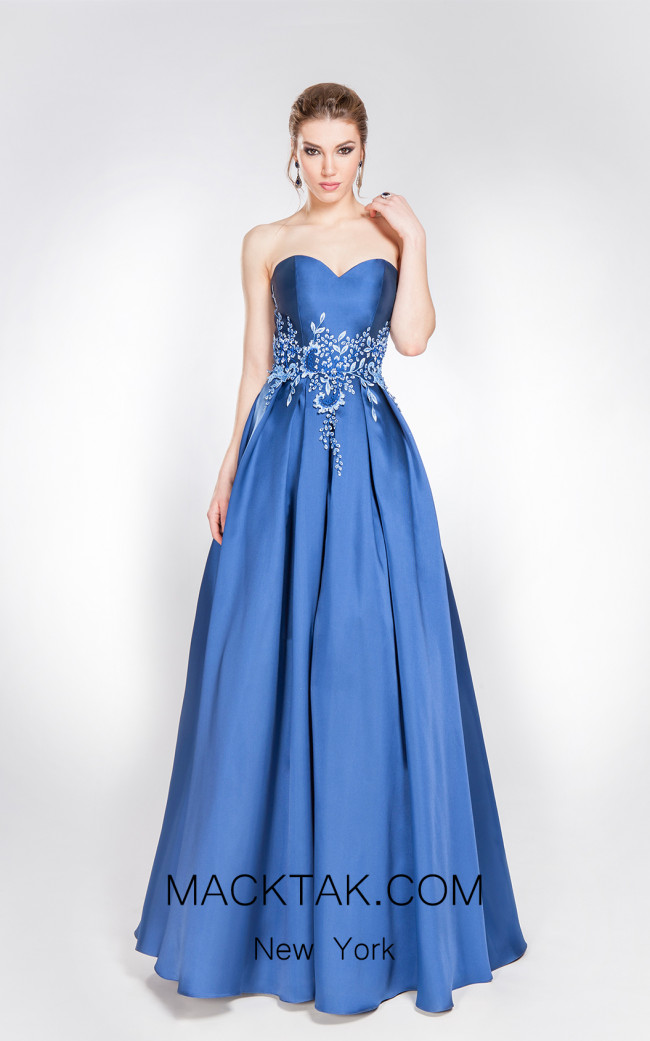 X & M Couture 49075 Front Evening Dress