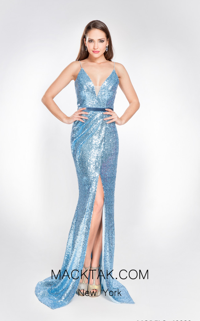 X & M Couture 49080 Front Evening Dress