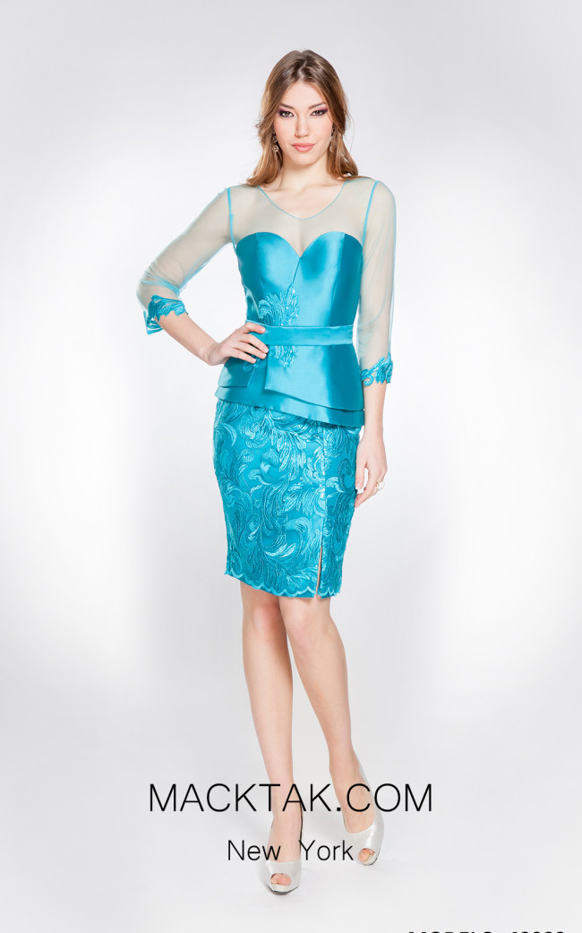 X & M Couture 49093 Front Evening Dress