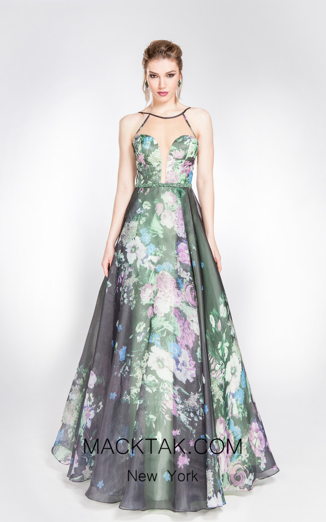X & M Couture 49100 Front Evening Dress
