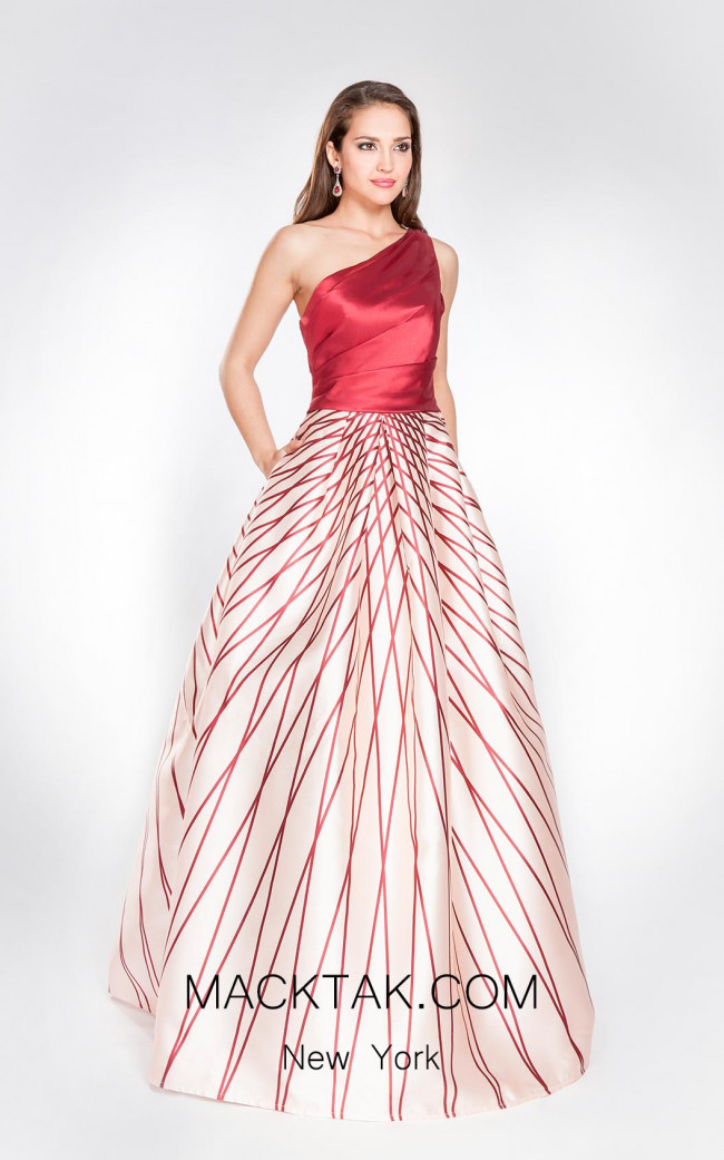 X & M Couture 8003 Front Evening Dress