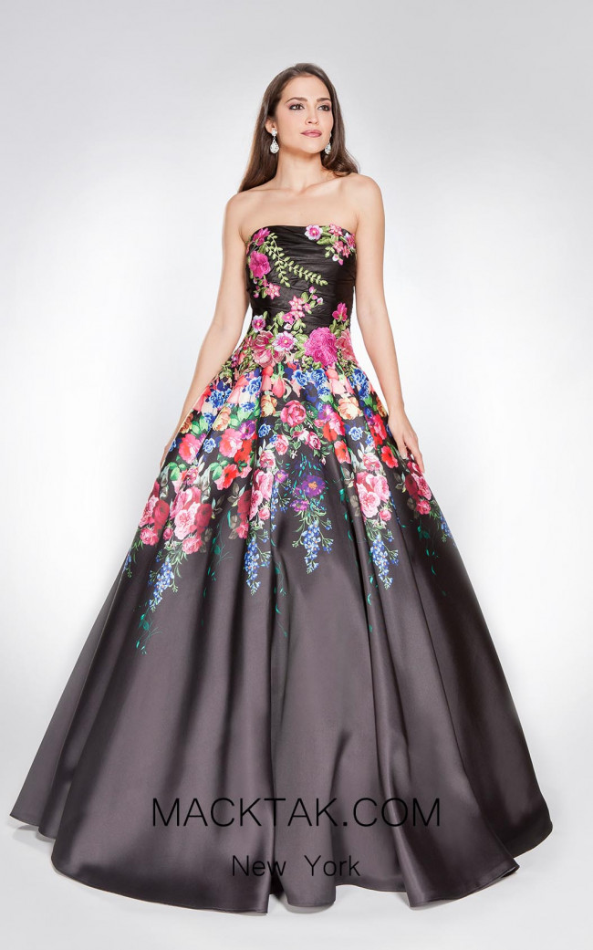 X & M Couture 8005 Front Evening Dress