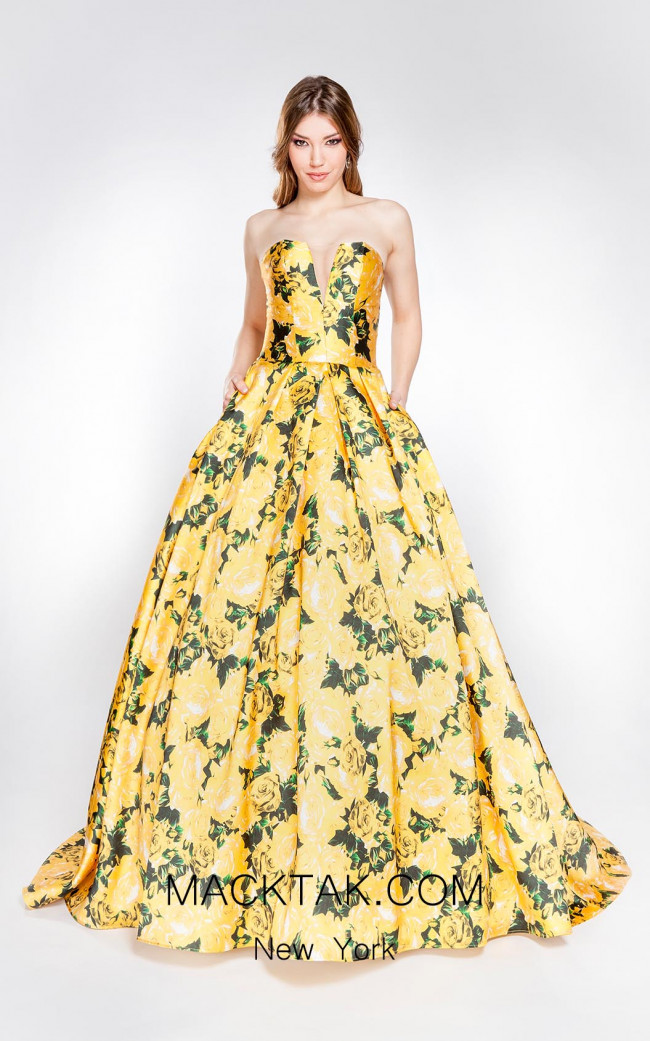 X & M Couture 8007 Front Evening Dress
