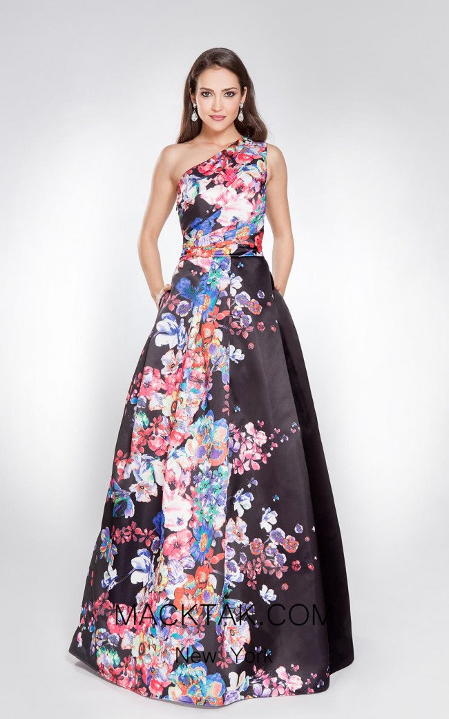 X & M Couture 8014 Front Evening Dress