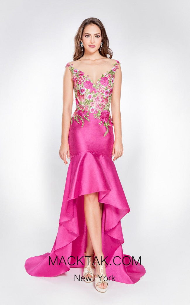 X & M Couture 8019 Front Evening Dress