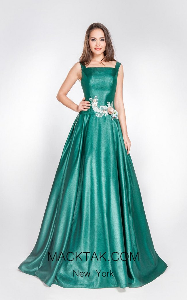 X & M Couture 8027 Front Evening Dress
