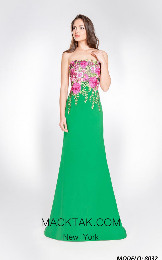 X & M Couture 8032 Front Evening Dress
