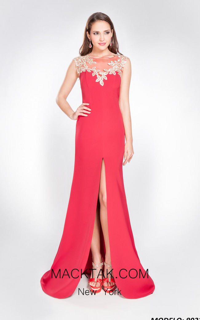 X & M Couture 8033 Front Evening Dress