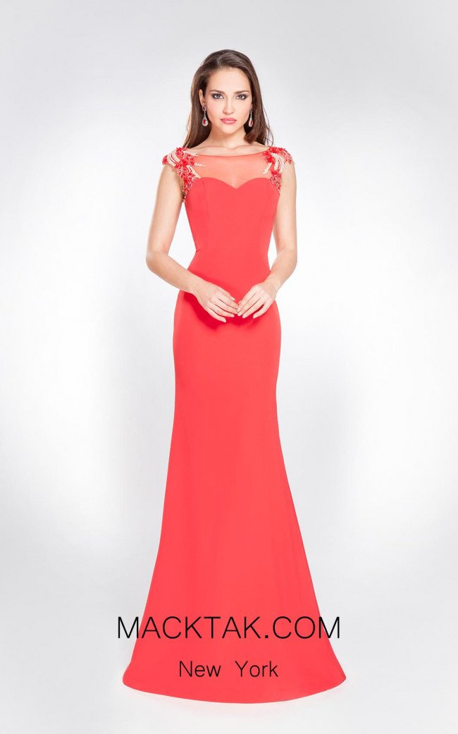 X & M Couture 8034 Front Evening Dress
