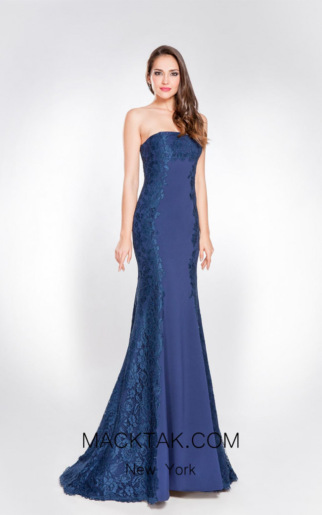 X & M Couture 8035 Front Evening Dress