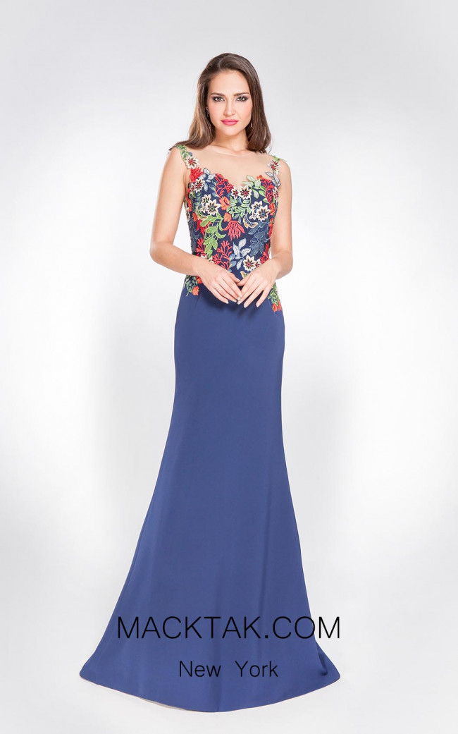X & M Couture 8036 Front Evening Dress