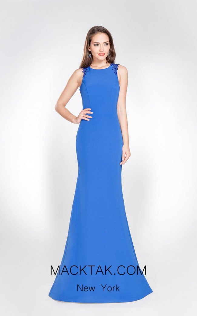 X & M Couture 8038 Front Evening Dress