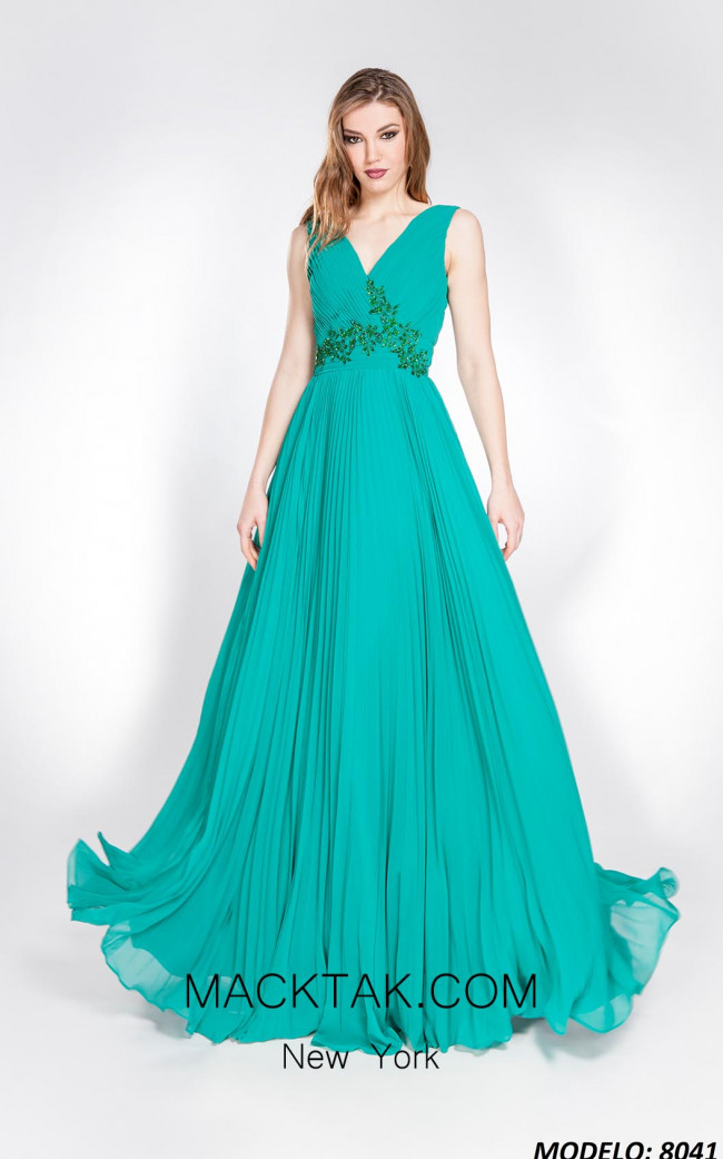 X & M Couture 8041 Front Evening Dress