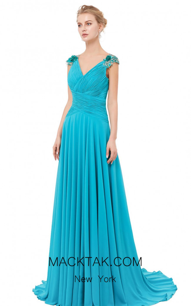 X & M Couture 8042 Front Evening Dress