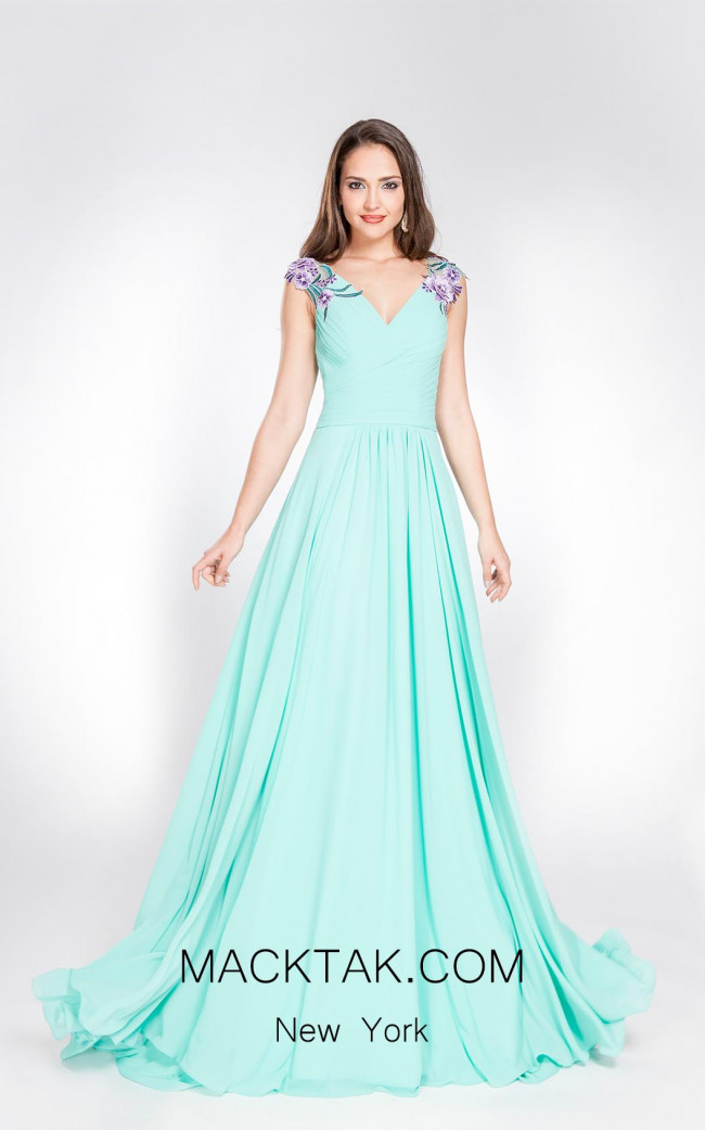 X & M Couture 8045 Front Evening Dress