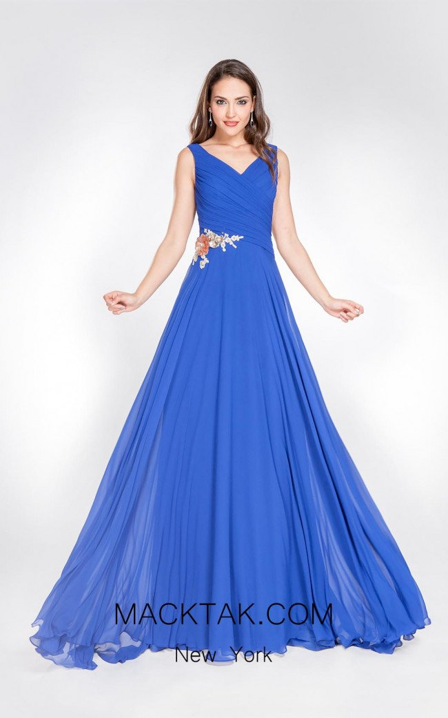 X & M Couture 8046 Front Evening Dress