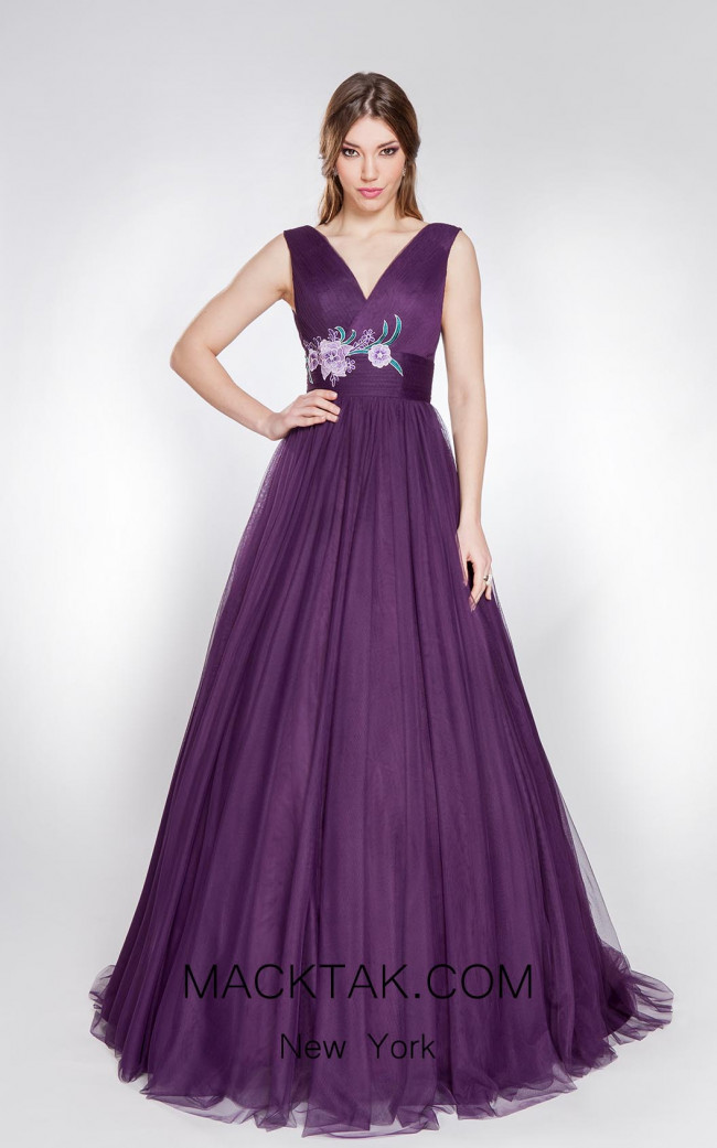 X & M Couture 8048 Front Evening Dress
