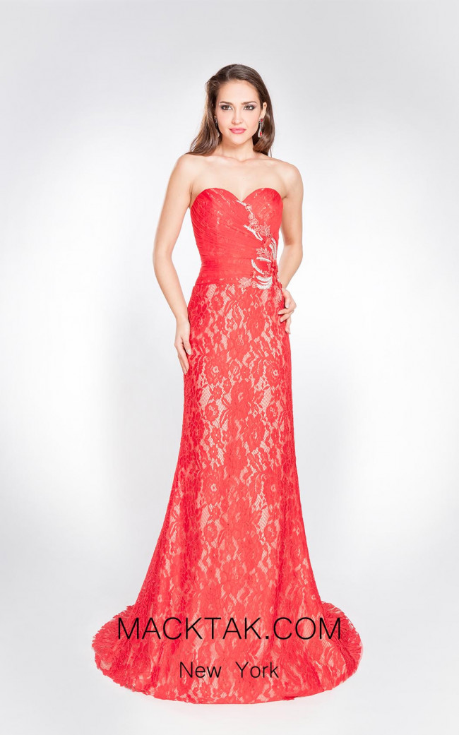 X & M Couture 8050 Front Evening Dress