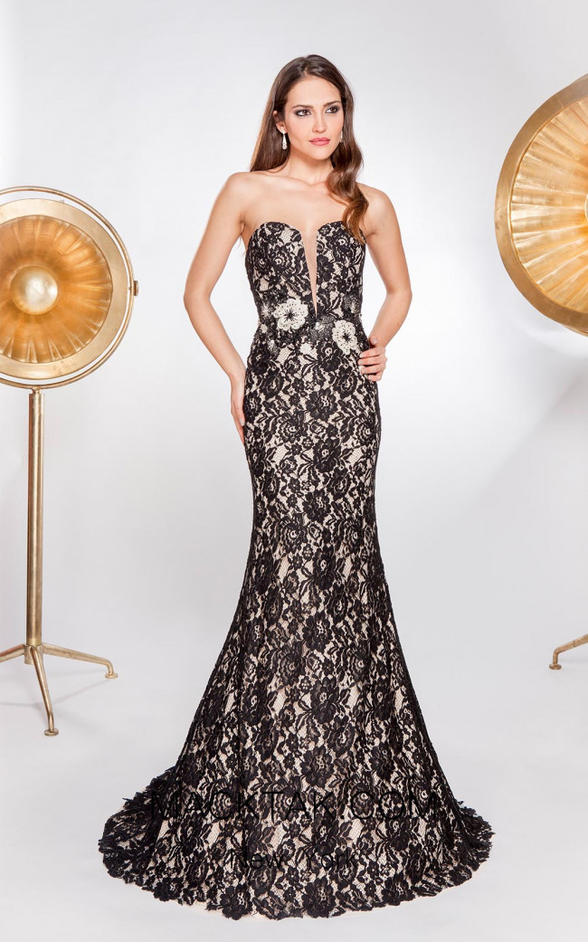X & M Couture 8051 Front Evening Dress