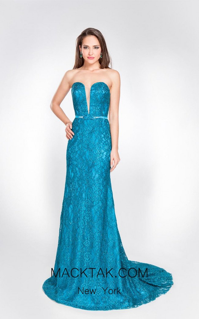 X & M Couture 8052 Front Evening Dress
