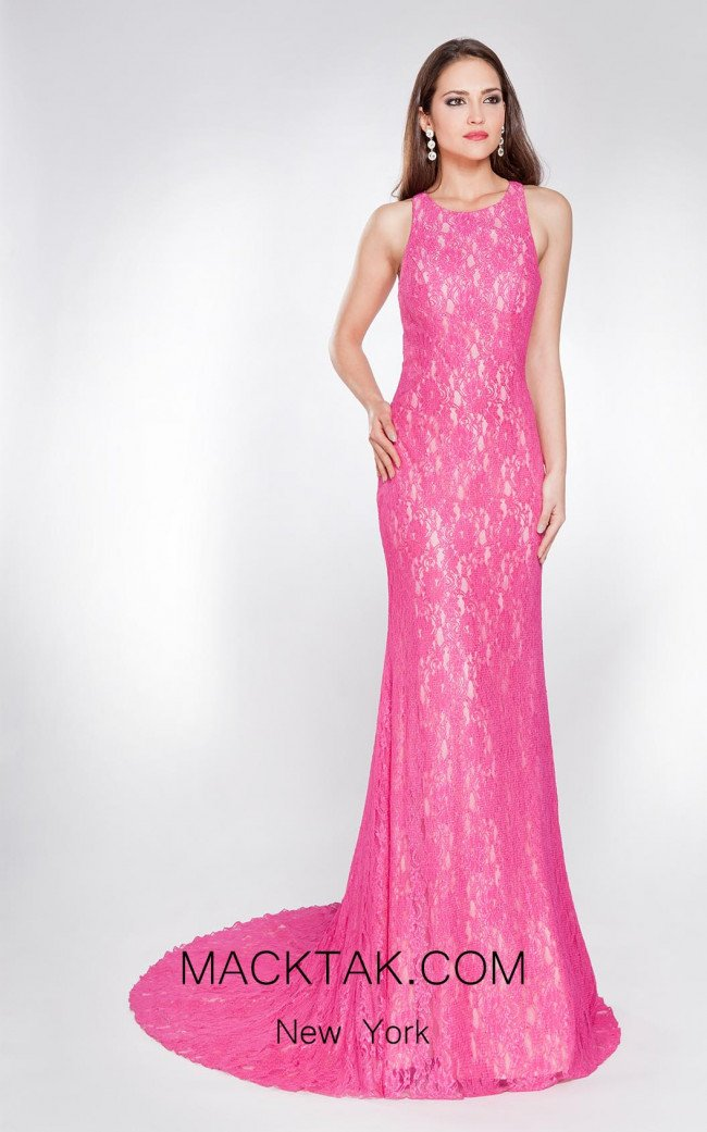 X & M Couture 8054 Front Evening Dress