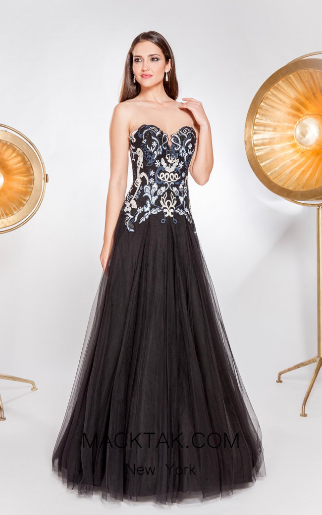 X & M Couture 8056 Front Evening Dress