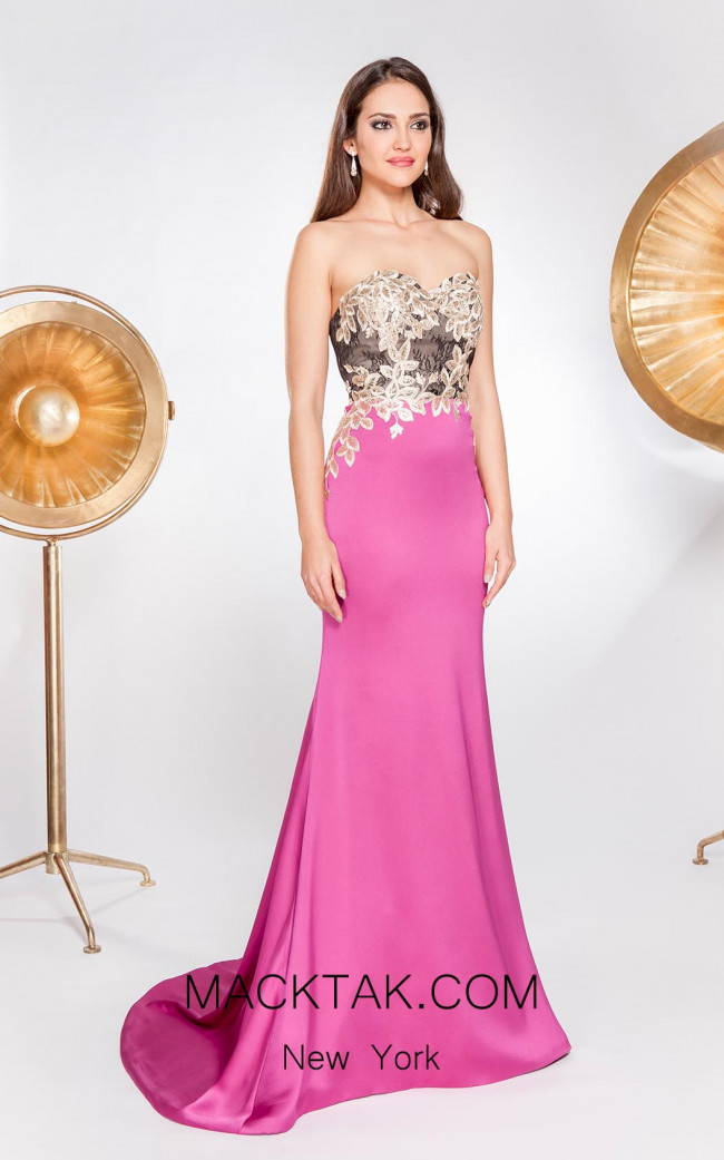 X & M Couture 8060 Front Evening Dress