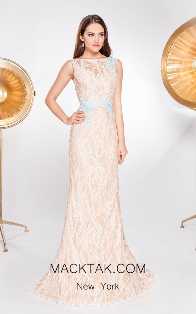 X & M Couture 8063 Front Evening Dress