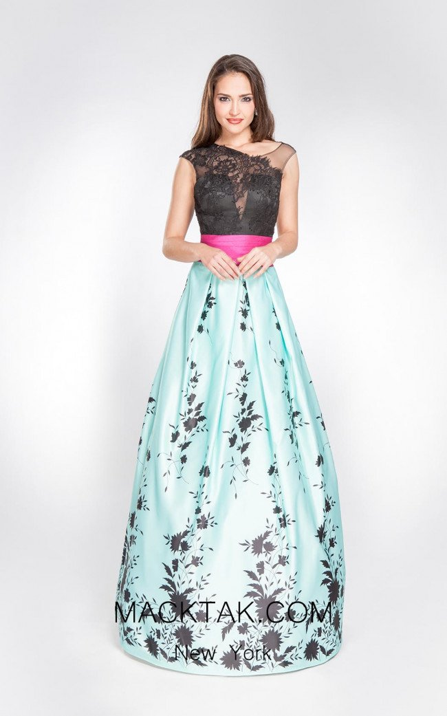 X & M Couture 8067 Front Evening Dress