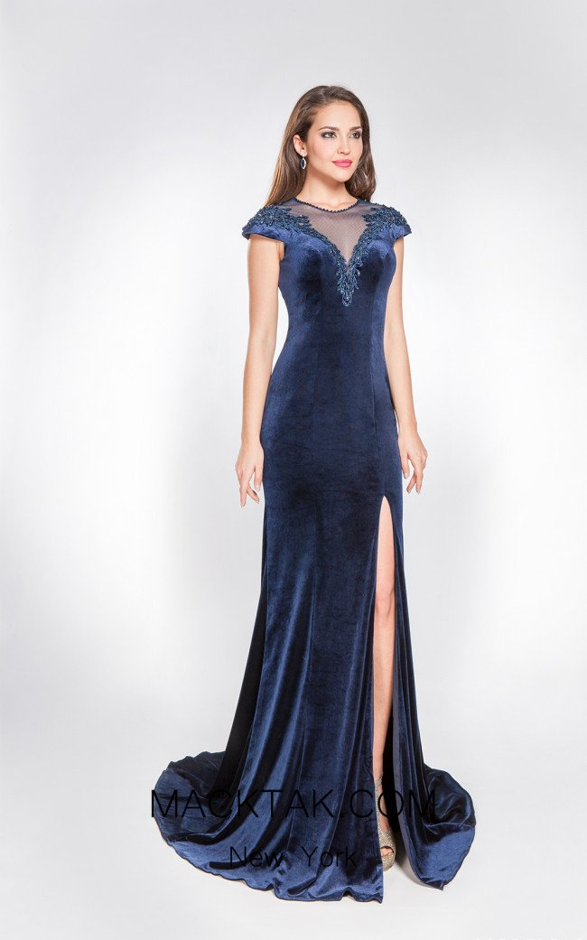 X & M Couture 8071 Front Evening Dress