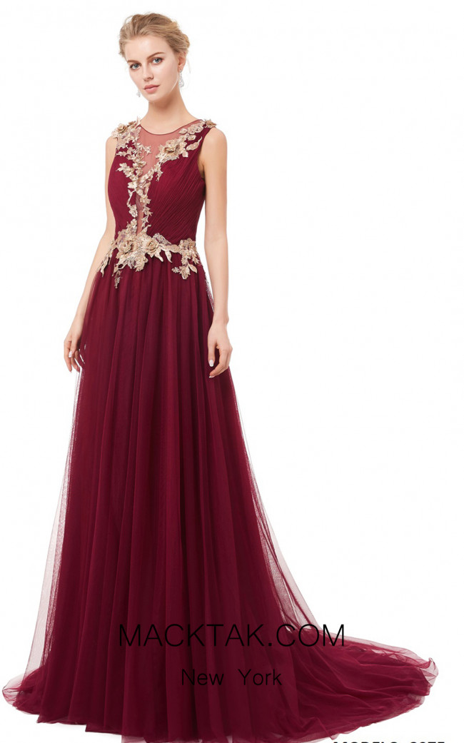 X & M Couture 8075 Front Evening Dress