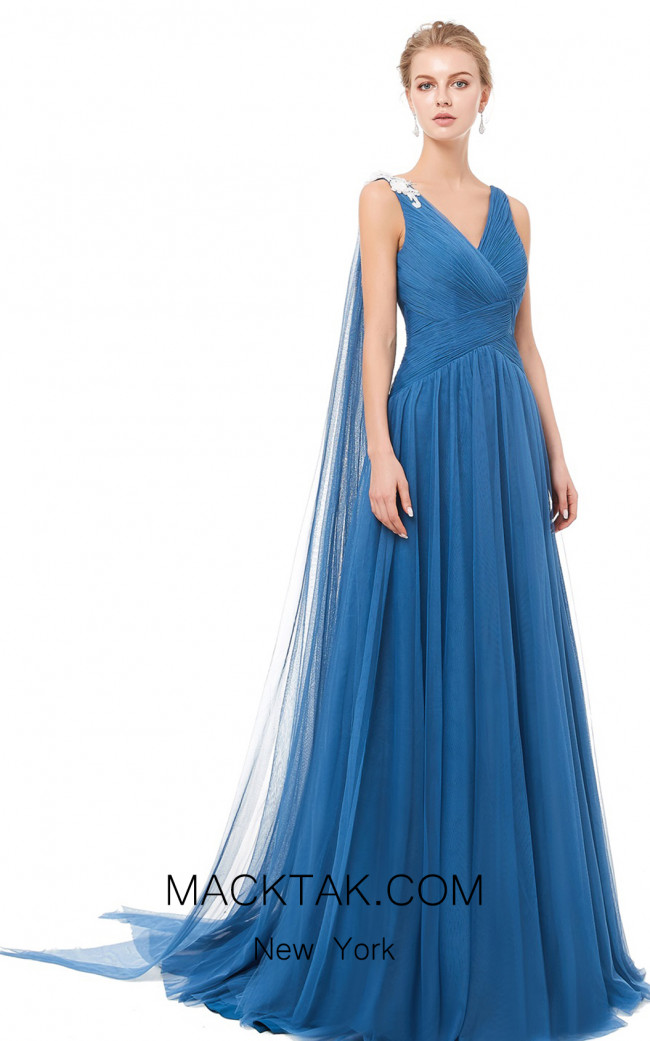 X & M Couture 8076 Front Evening Dress