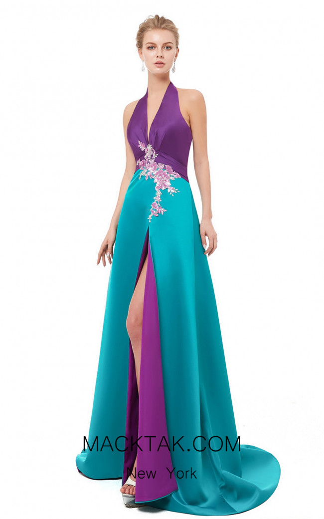 X & M Couture 8079 Front Evening Dress