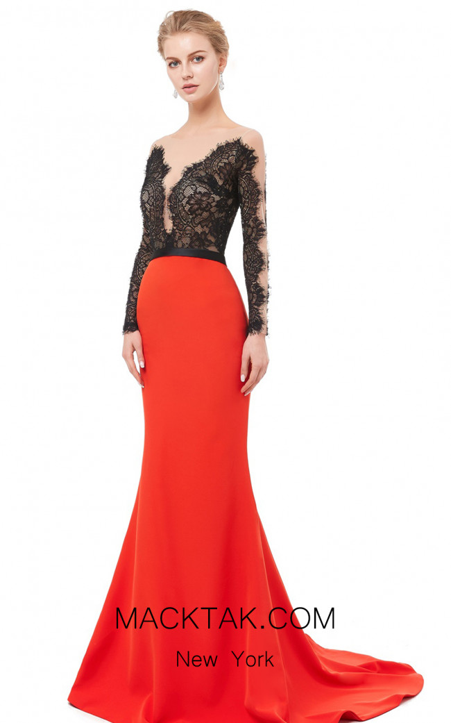 X & M Couture 8080 Front Evening Dress
