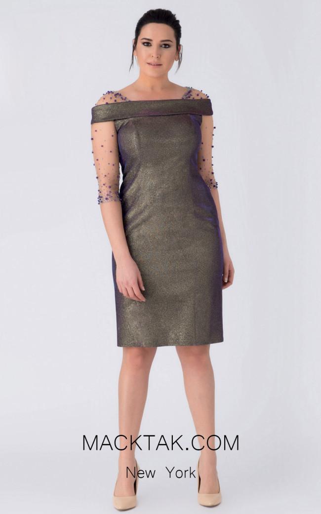 Alchera Y8244 Front Evening Dress