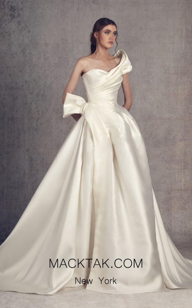 Ziad Germanos ZG15 Off White Front Evening Dress