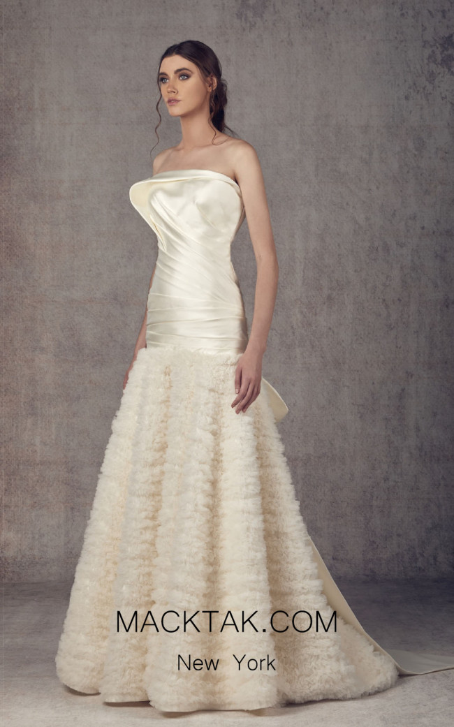 Ziad Germanos ZG16 Off White Front Evening Dress