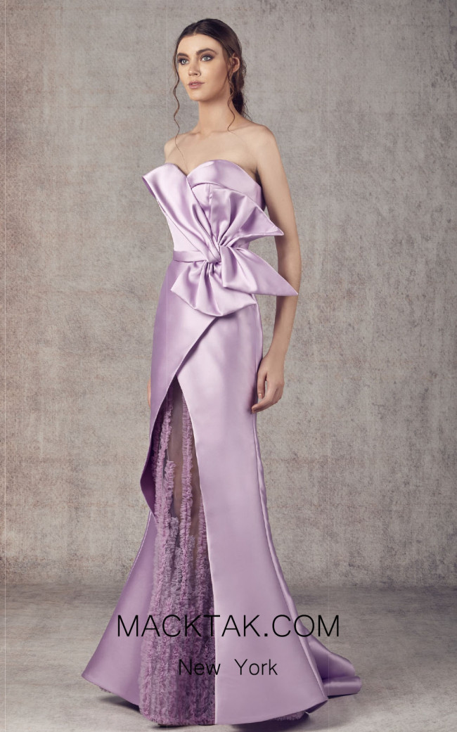 Ziad Germanos ZG7 Lilac Front Evening Dress
