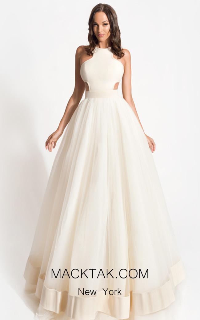 Zolotas Atelier Amazona Front Evening Dress