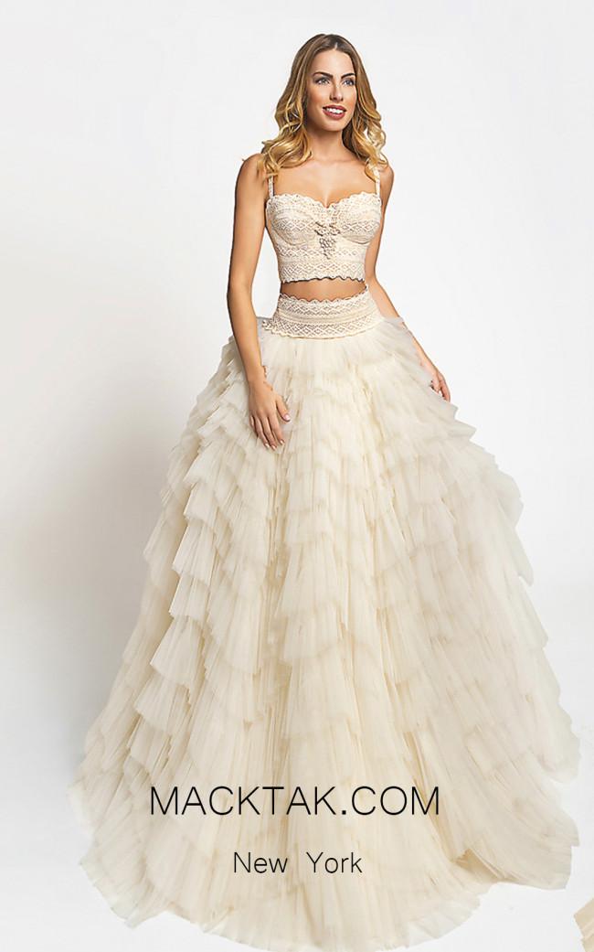Zolotas Atelier Athina Front Evening Dress