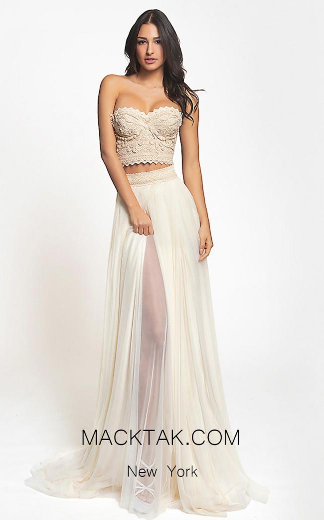 Zolotas Atelier Delis Front Evening Dress