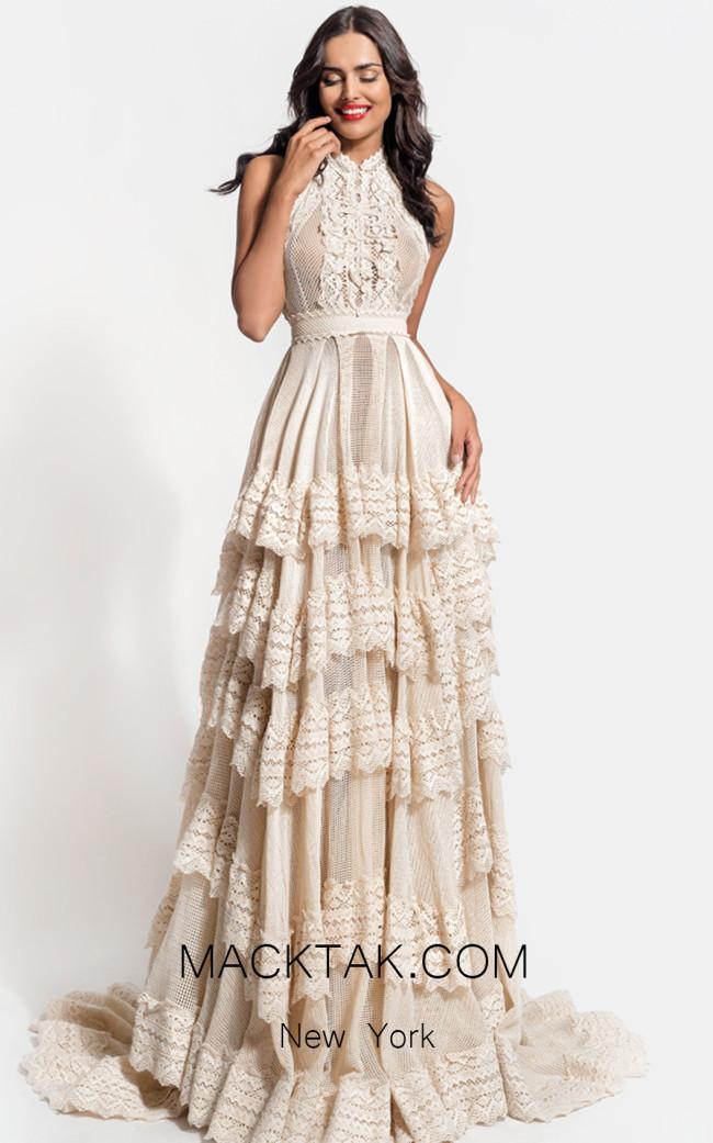 Zolotas Atelier Delphis Front Evening Dress