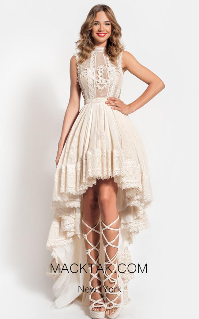 Zolotas Atelier Demeter Front Evening Dress