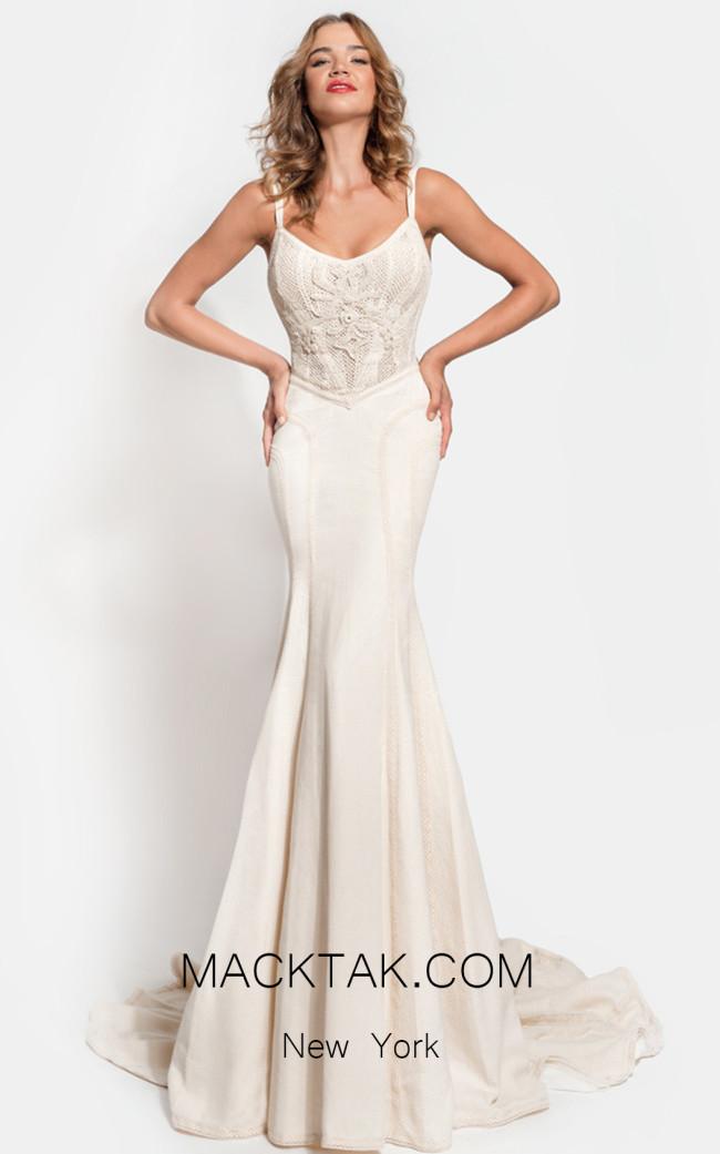 Zolotas Atelier Etere Mermaid Front Evening Dress