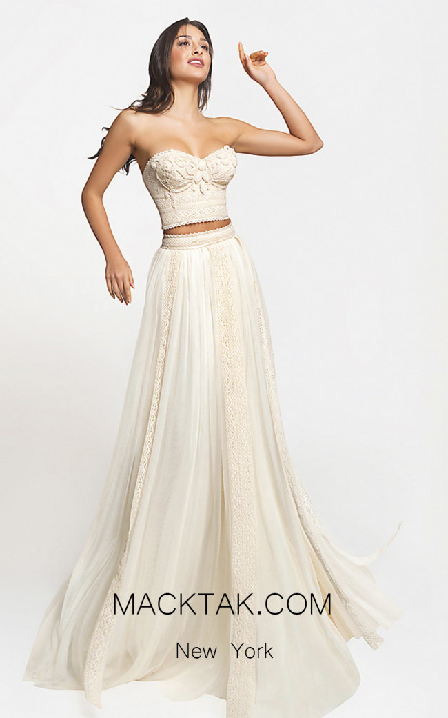 Zolotas Atelier Hermia Front Evening Dress
