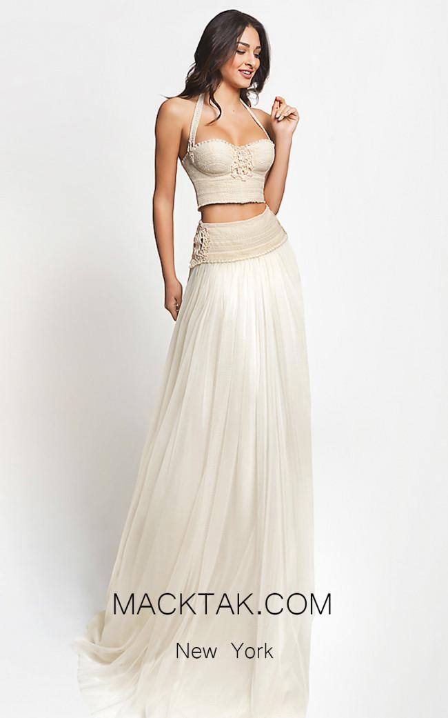 Zolotas Atelier Oris Front Evening Dress