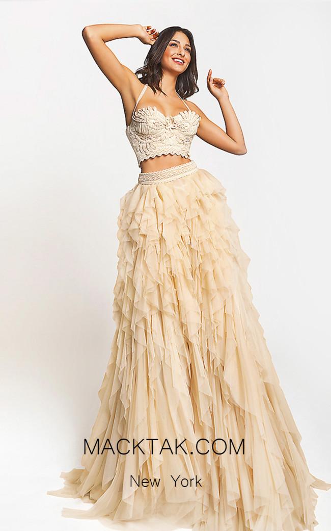 Zolotas Atelier Persa Front Evening Dress