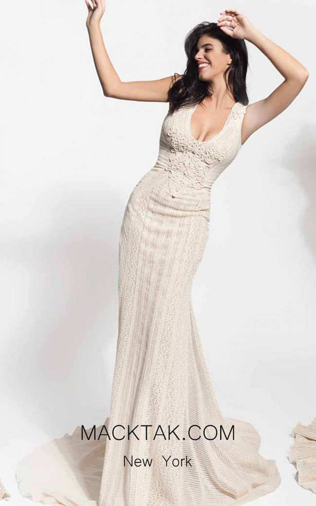 Zolotas Atelier Alcestis Front Evening Dress