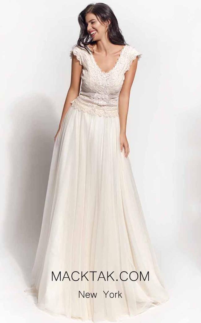 Zolotas Atelier Andromeda Front Evening Dress