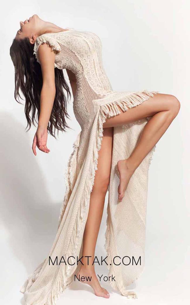 Zolotas Atelier Artemisia Side Evening Dress